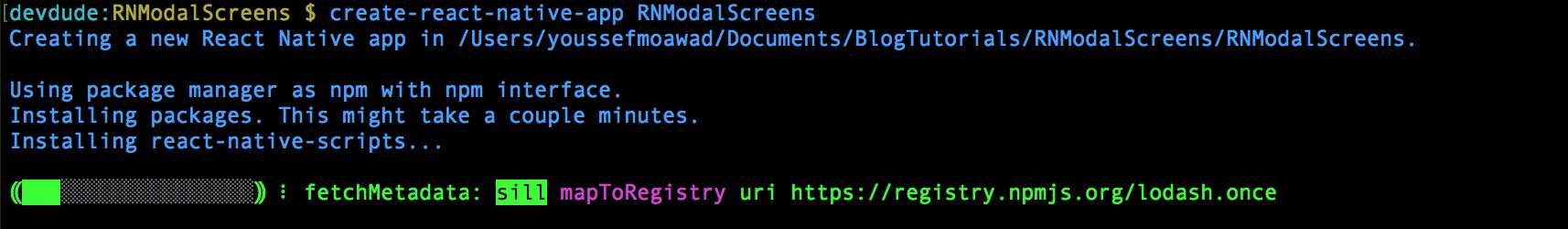 React Native: Modal Screens with React Navigation