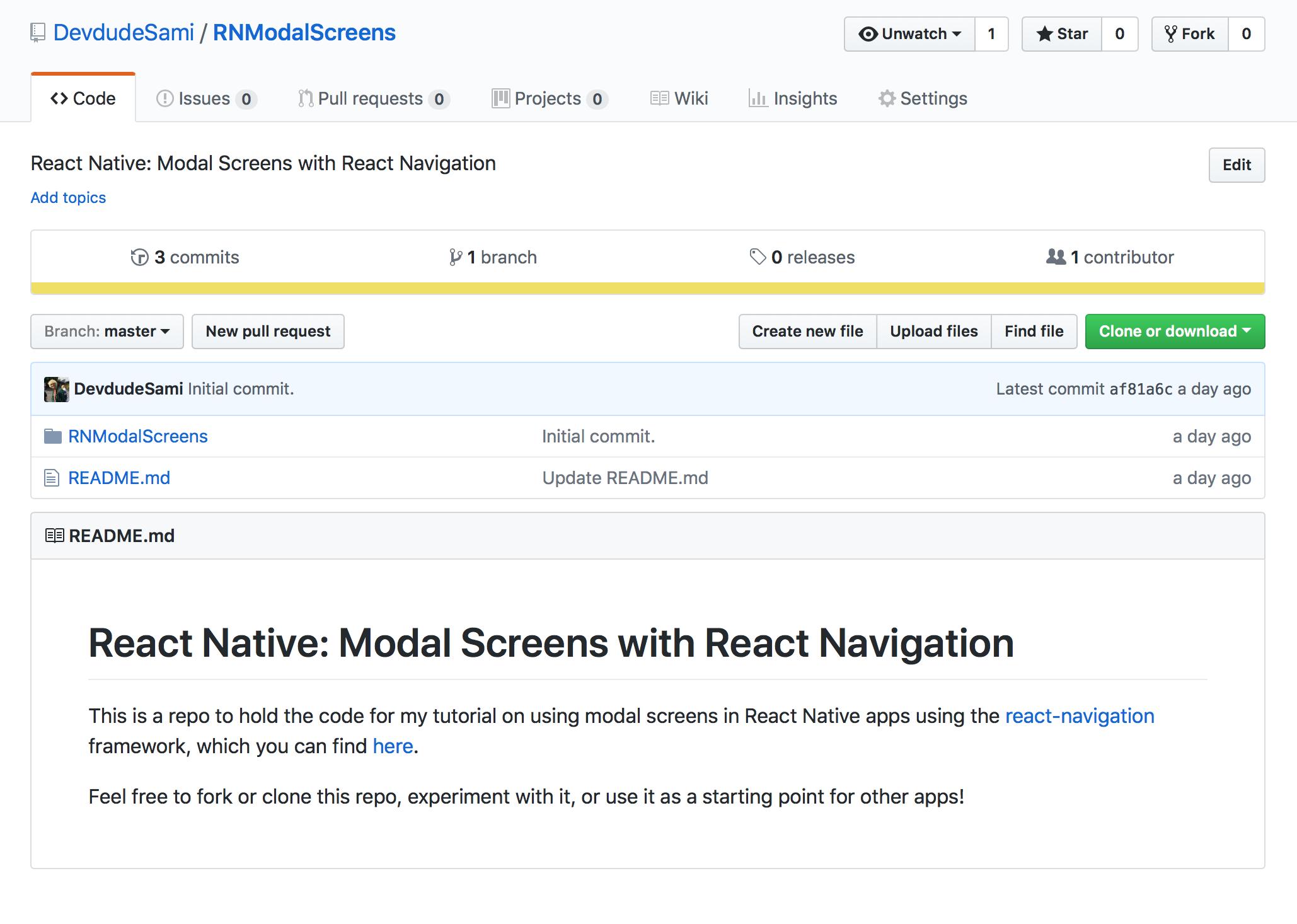 React Native: Dismissable Modal Stack Navigators